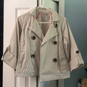 Tan trench style jacket